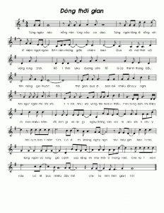 Sheet nhạc bài hát dòng thời gian