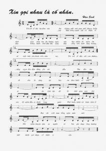 Sheet nhạc bài hát xin gọi nhau là cố nhân
