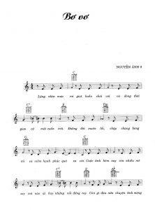 Sheet nhạc bài hát bơ vơ